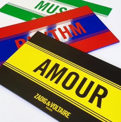 Cartons d'invitation Zadig & Voltaire